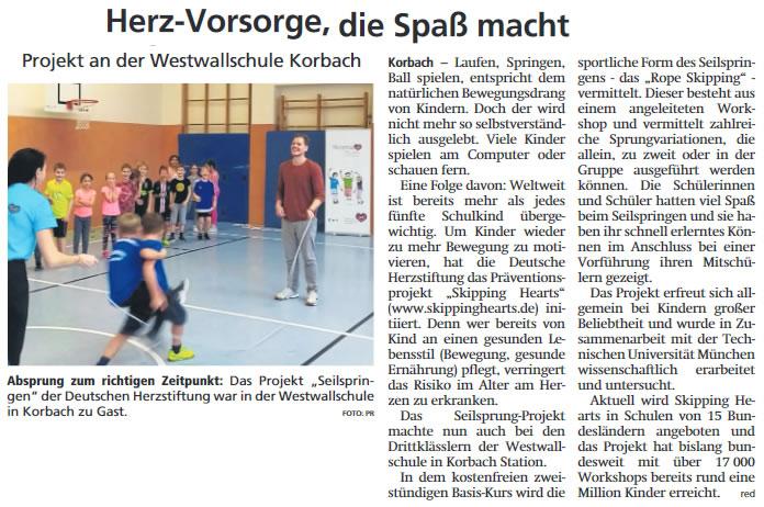2019 11 26 WLZ Sport Projekt an Westwallschule